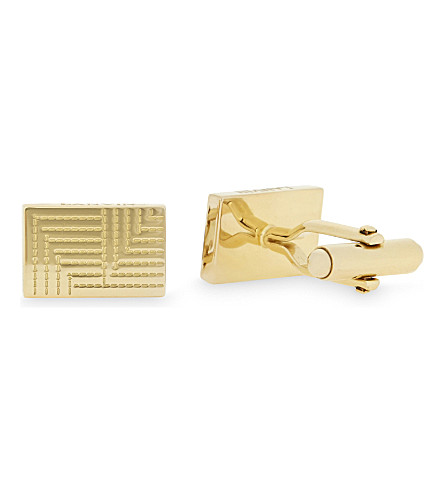 LANVIN Stitched square cufflinks (Gold