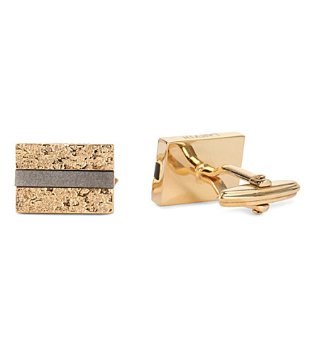 LANVIN Foil square cufflinks (Gold