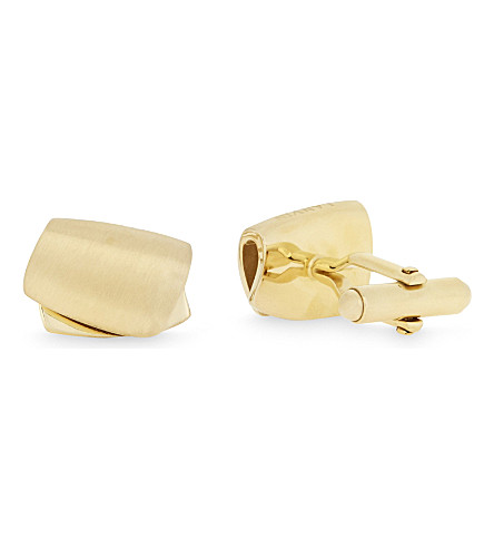 LANVIN Curved oscillating cufflinks (Gold