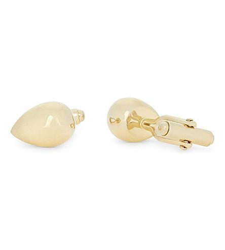 LANVIN Egg shaped cufflinks (Gold