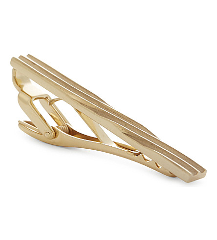 LANVIN Gold-plated tie clip (Gold