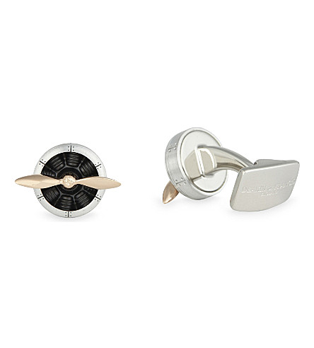 DEAKIN AND FRANCIS Sopwith propeller cufflinks (Aluminium