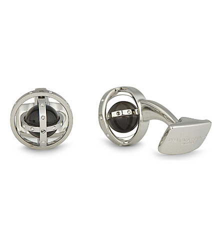 DEAKIN AND FRANCIS Gyro sterling silver cufflinks (White+rhodium