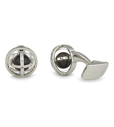 DEAKIN AND FRANCIS Gyro sterling silver cufflinks (White+rhodium