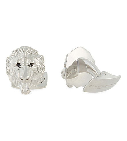 DEAKIN AND FRANCIS Lion head cufflinks (Silver