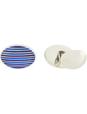 DEAKIN AND FRANCIS Blue stripe cufflink