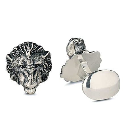 DEAKIN AND FRANCIS Sterling silver lion cufflinks (Silver