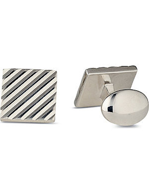 DEAKIN AND FRANCIS Sterling silver engine-turned cufflinks