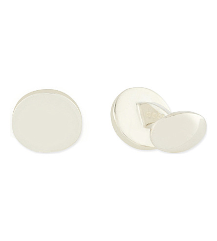 DEAKIN AND FRANCIS Circle plain cufflinks (Silver