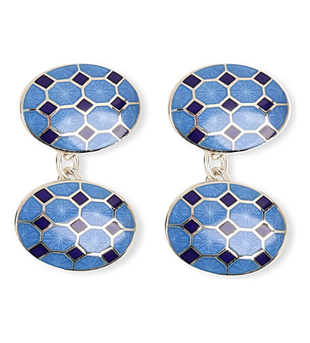 DEAKIN AND FRANCIS Octagon cufflinks (Blue