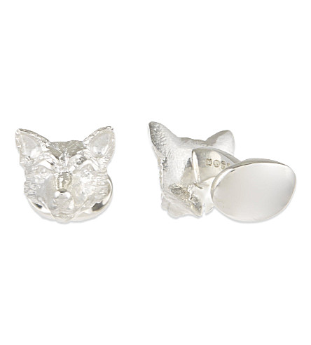 DEAKIN AND FRANCIS Fox head sterling silver cufflinks (Silver