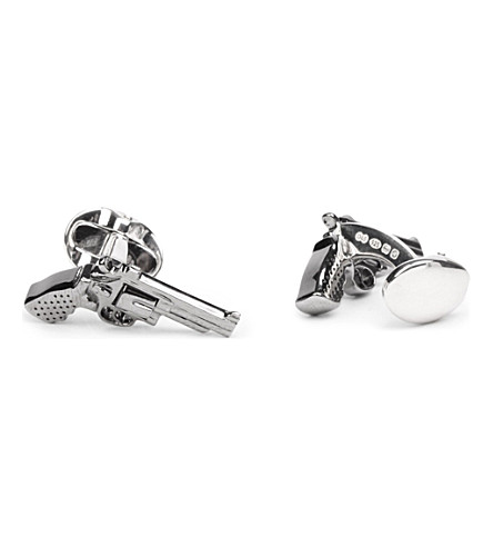 DEAKIN AND FRANCIS Revolver cufflinks (Silver