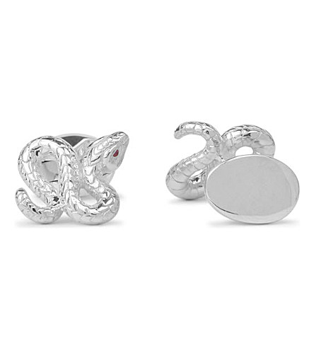 DEAKIN AND FRANCIS Snake silver cufflinks (Silver