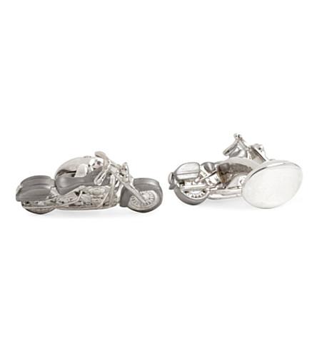 DEAKIN AND FRANCIS Motorbike cufflinks (Silver
