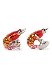 DEAKIN AND FRANCIS Shrimp cufflinks