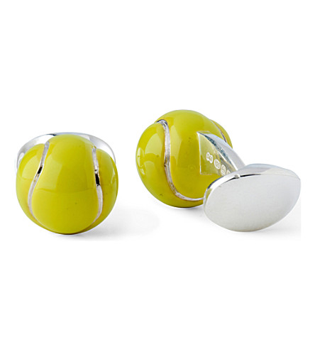 DEAKIN AND FRANCIS Tennis Ball cufflinks (Yellow