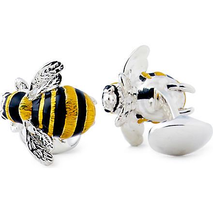 DEAKIN AND FRANCIS Bumble Bee cufflinks (Yellow/black