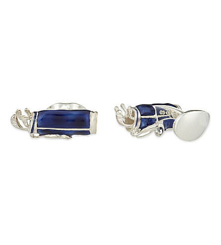 DEAKIN AND FRANCIS Silver golf bag cufflinks (Blue