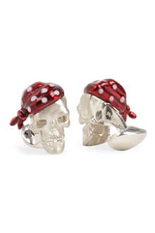 DEAKIN AND FRANCIS Pirate Skull cufflinks