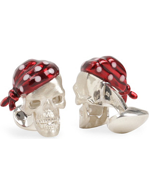 DEAKIN AND FRANCIS Pirate Skull cufflinks