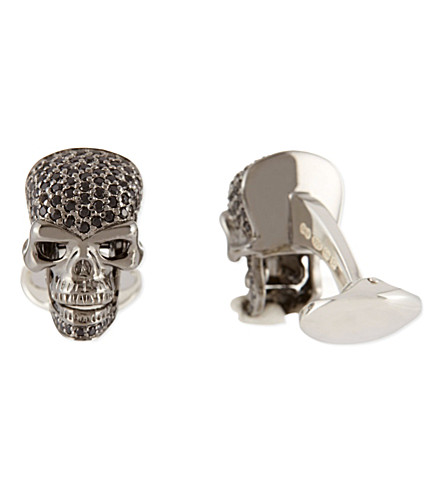 DEAKIN AND FRANCIS Skull cufflinks (Black