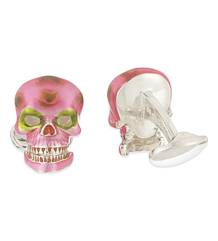 DEAKIN AND FRANCIS Mexican skull cufflinks (Pink