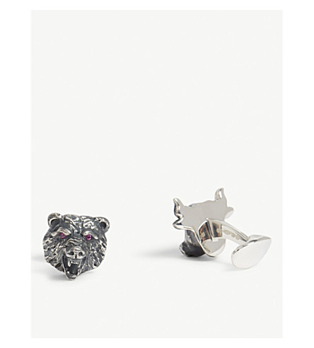 DEAKIN AND FRANCIS Bull and bear cufflinks (Black