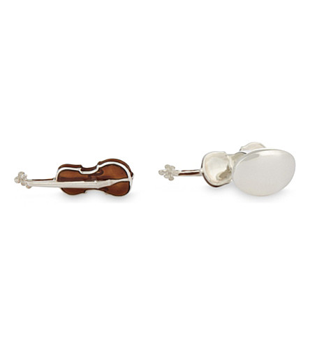 DEAKIN AND FRANCIS Violins sterling silver cufflinks (Brown