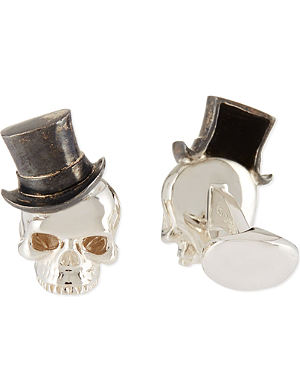 DEAKIN AND FRANCIS Skull in tophat cufflinks