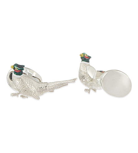 DEAKIN AND FRANCIS Pheasant cufflinks (Silver