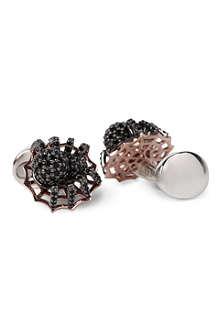 DEAKIN AND FRANCIS Spider & web cufflinks