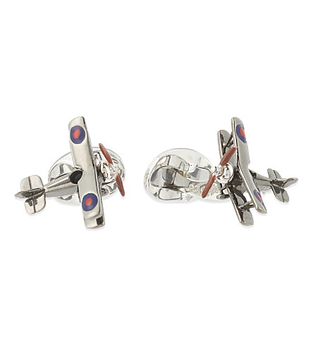 DEAKIN AND FRANCIS Small plane cufflinks (Silver