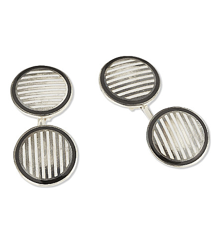 DEAKIN AND FRANCIS Vintage Collection striped cufflinks (Black