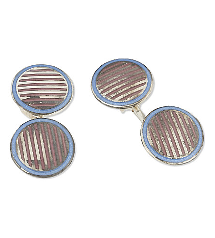 DEAKIN AND FRANCIS Vintage Collection striped cufflinks (Blue