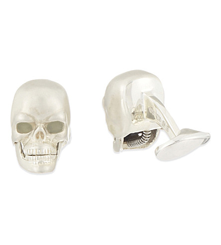 DEAKIN AND FRANCIS LED eye skull cufflinks (Silver