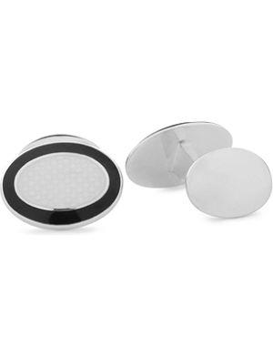 DEAKIN AND FRANCIS Oval enamel cufflinks