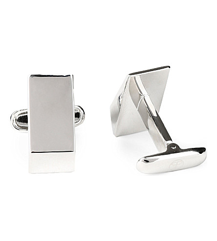 DENISONBOSTON Wedge monogram cufflinks (Stainless