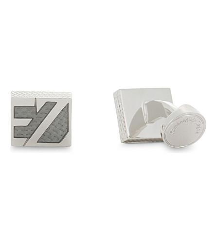 ERMENEGILDO ZEGNA Logo face square cufflinks (Silver