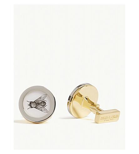 泰勒 & 泰勒飞圈袖扣 (银