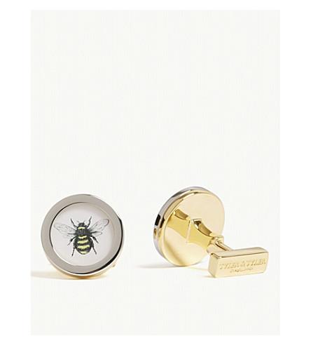 TYLER & TYLER Bumblebee circle cufflinks