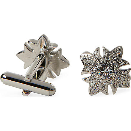 SIMON CARTER Garter Star cufflinks (Clear