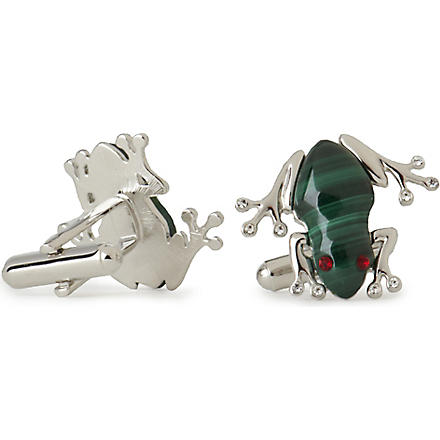 SIMON CARTER Darwin Frog cufflinks (Green