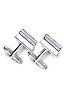 SIMON CARTER Haematite roll top cufflinks