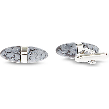 SIMON CARTER Semi-precious stone cufflinks (Black/ white