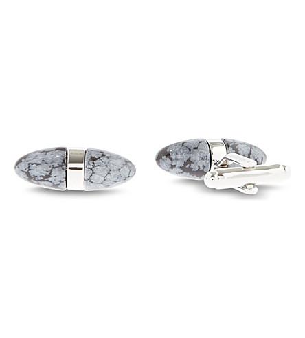 SIMON CARTER Semi-precious stone cufflinks (Black/ white