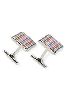 DUCHAMP Enamel striped cufflinks