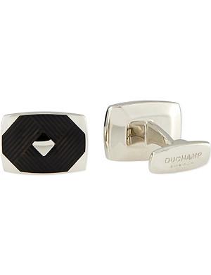 DUCHAMP Harlequin enamel cufflinks