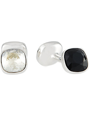 DUCHAMP Reversible crystal cufflinks