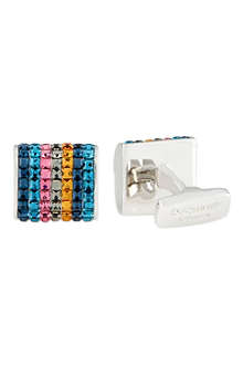 DUCHAMP Seven stripe crystal cufflinks