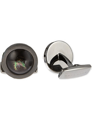 HUGO BOSS Round insert cufflinks